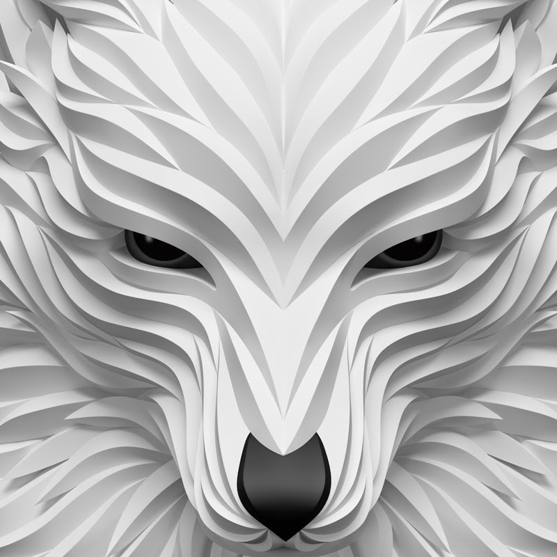 11-White-Wolf-Maxim-Shkret-Digital-Origami-Animal-Art-www-designstack-co