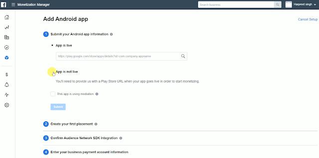 Facebook Developer Console Facebook Audience Network