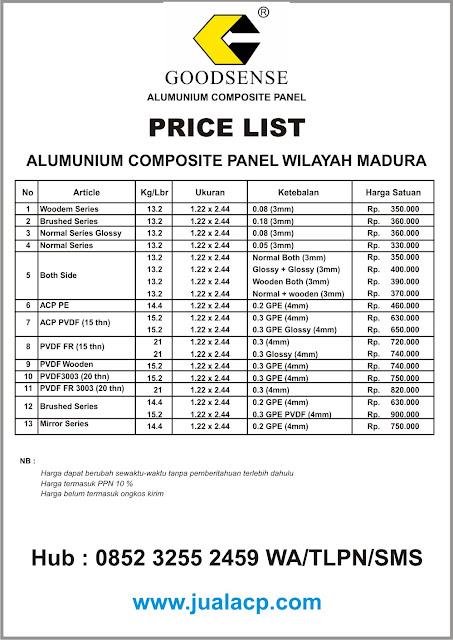 daftar harga acp goodsense madura