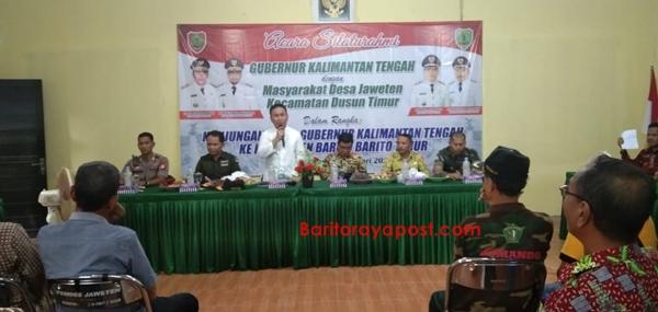 Gubernur Kalteng Tanggapi Keluhan Warga Terkait Jalan Hauling Di Desa Jeweten