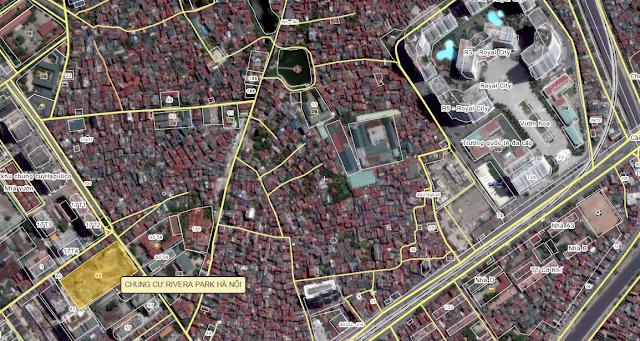 Vị trí Rivera Park chụp từ vệ tinh Google Map