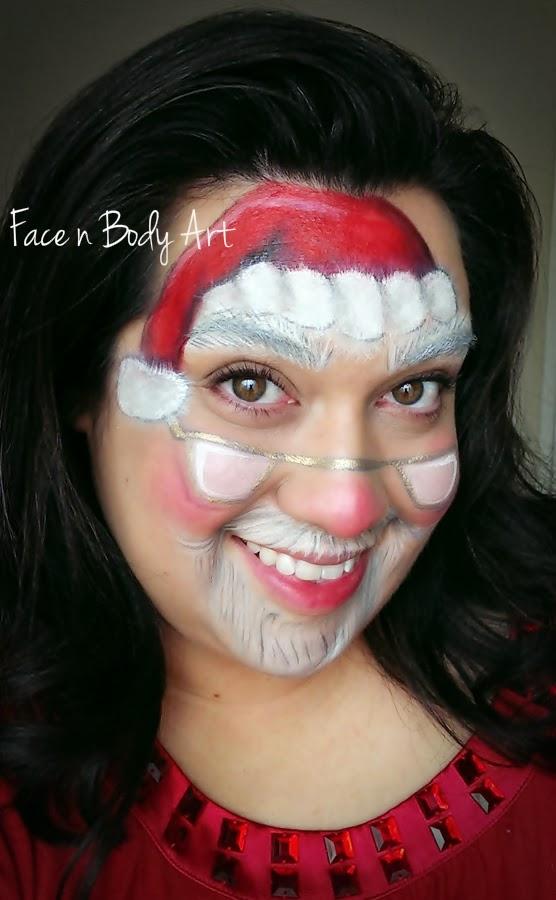Shawna D. Make-up: FOTD Santa Claus Face Painting