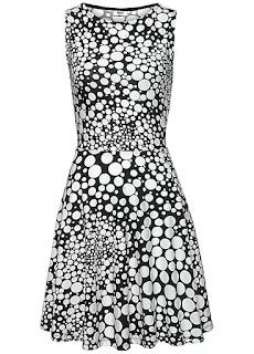 Black Cotton Printed Beachtime Dress design