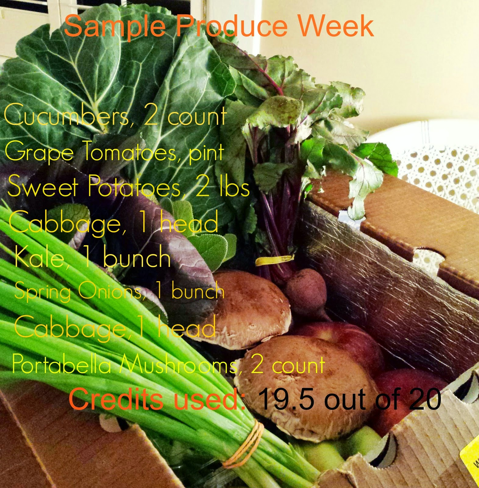Papa Spud's Produce Delivery; sample of cost. Farm-Fresh veggies delivered to your doorstep weekly.
