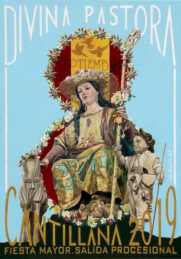 Cartel de la salida procesional de la Pastora de Cantillana.