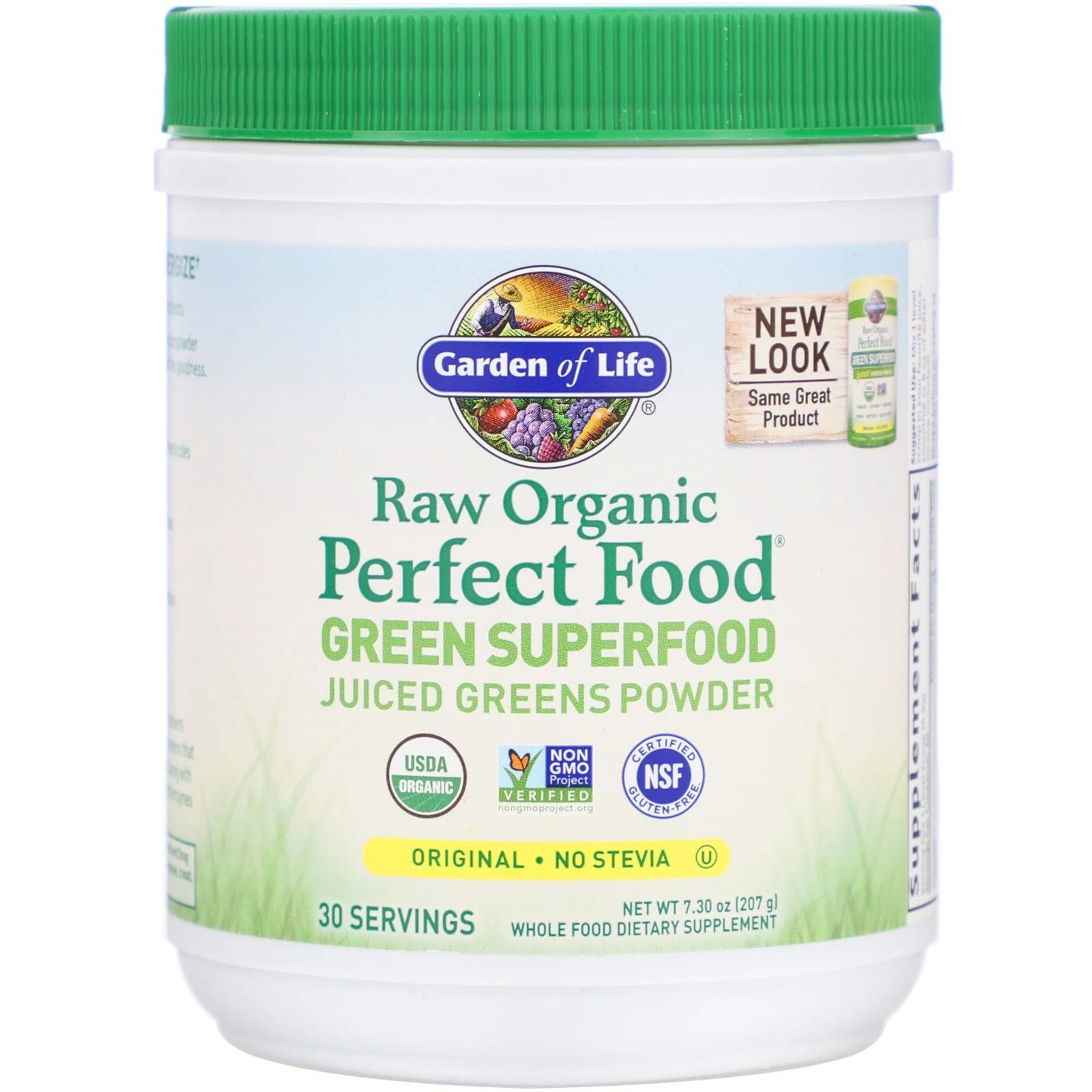 Garden of Life, Raw Organic Perfect Food, растительный суперпродукт, оригинальный вкус, 209 г (7,4 унции)