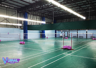 Contoh Gambar Lapangan Bulu Tangkis / Badminton