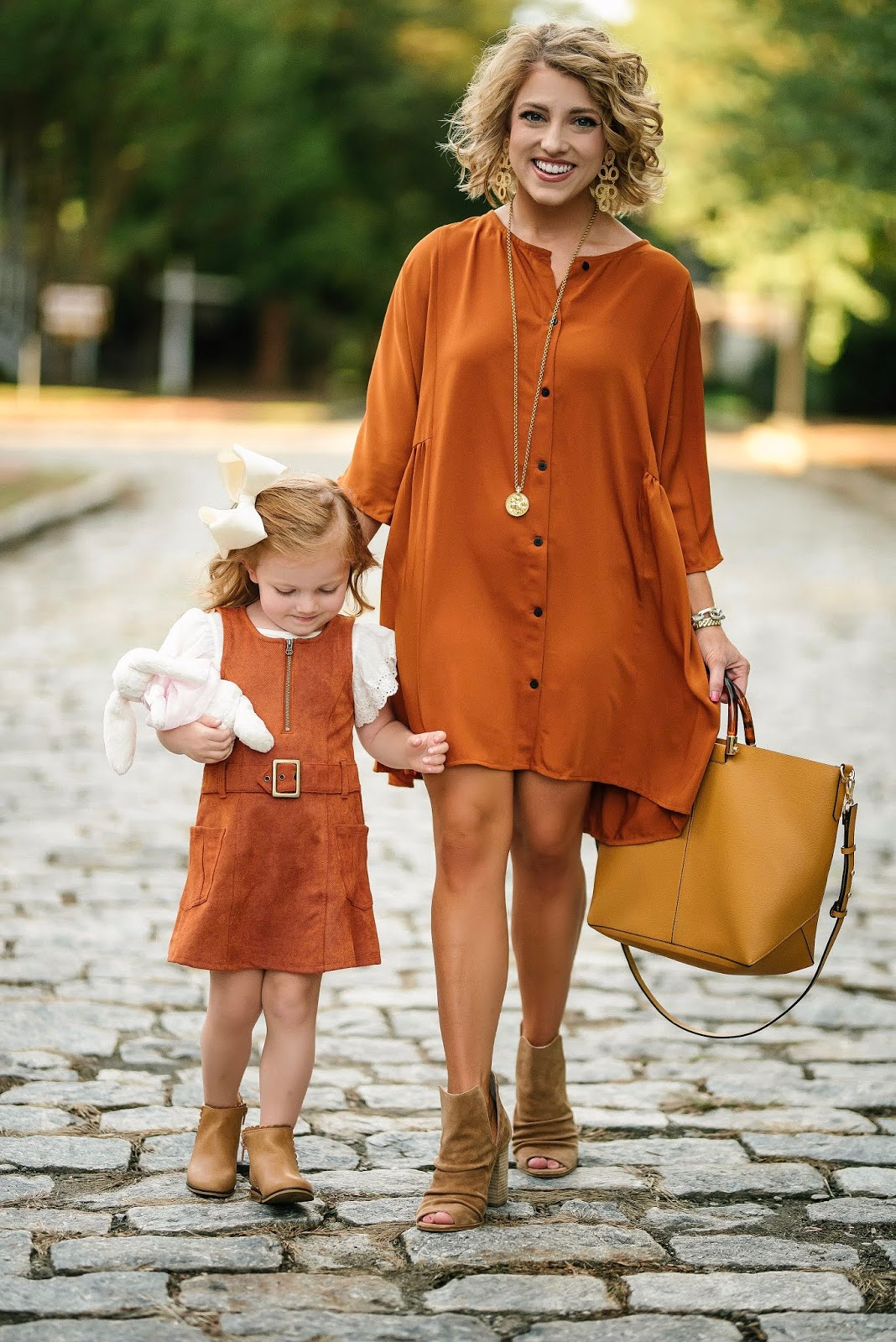 Mommy and me outfits for fall - Under $50 Rust Dress + A Huge Sale! - Something Delightful Blog