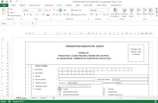 Formulir Isian Data PUPNS 2015