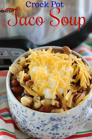 Crock Pot Taco Soup recipe from Served Up With Love will keep you warm and toasty on a cold day. Filled with all the flavors you love in a taco. Perfect for any night of the week.