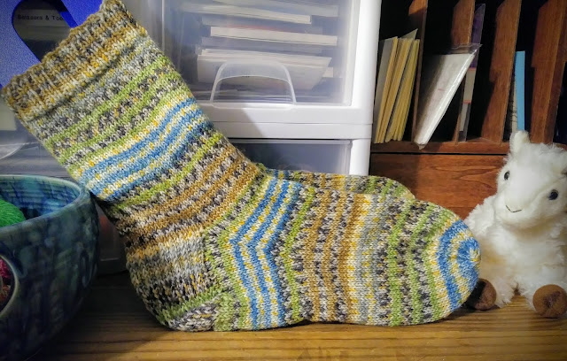 socks knit with Regia 6-fadig wool