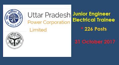 UPPCl Notification 2017 Junior Engineer Electrical Trainee jobs @uppcl-org