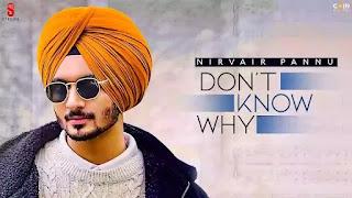 Checkout Nirvair Pannu new punjabi song Don't know why lyrics