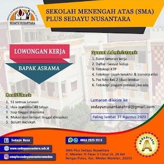 Bapak Asrama di SMA Plus Sedayu Nusantara