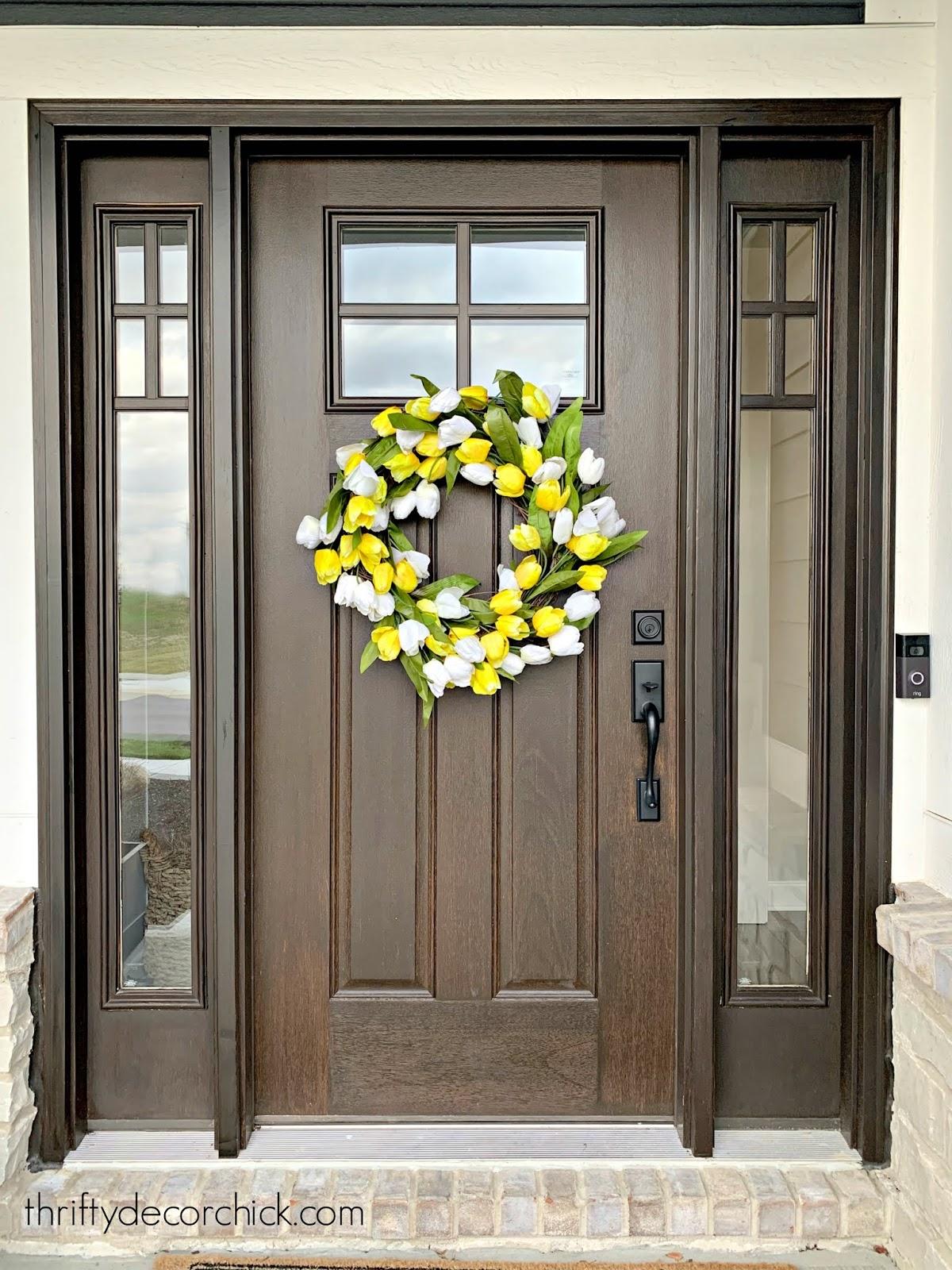 easy DIY spring tulip wreath