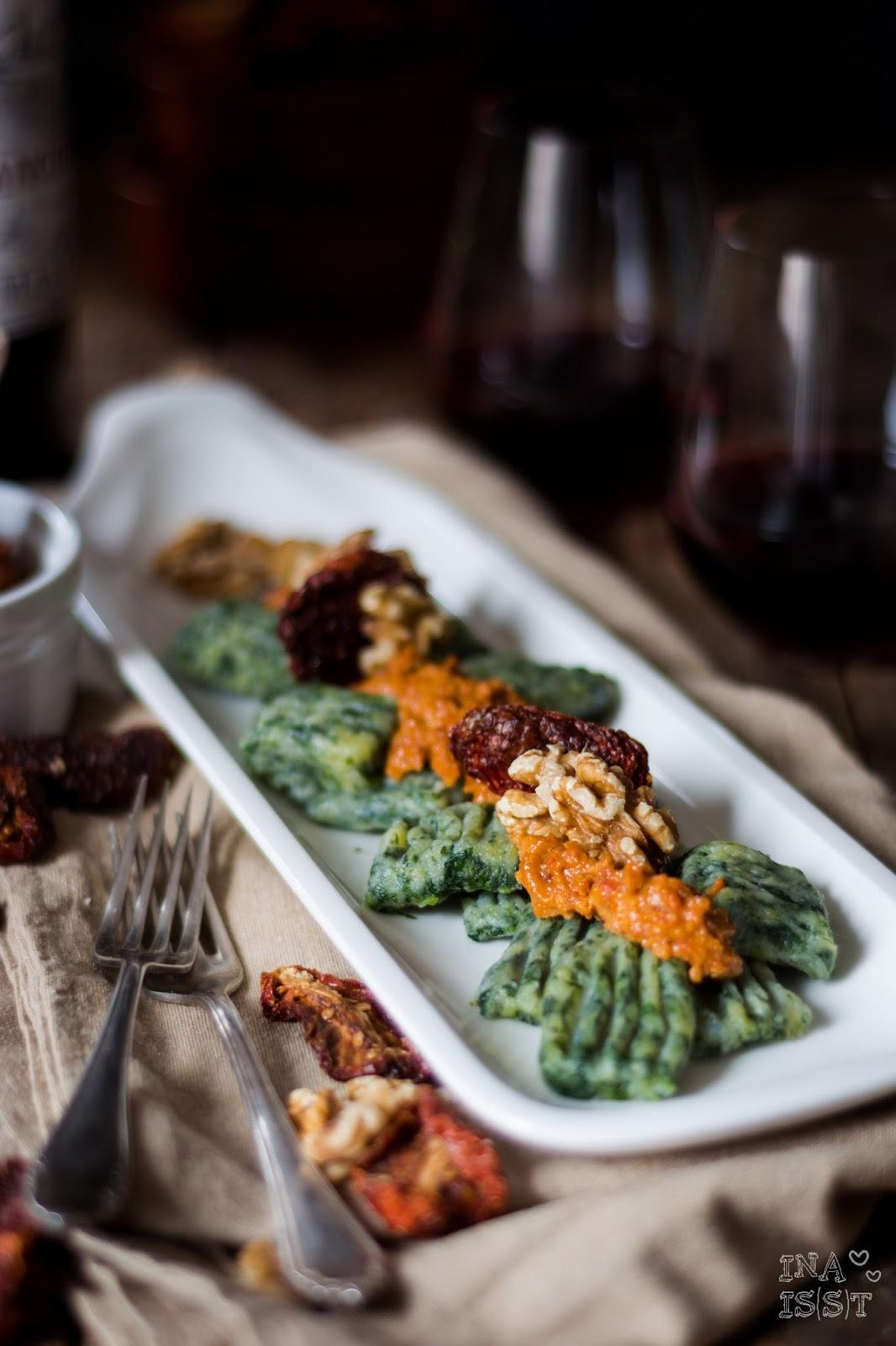 Spinat-Gnocchi mit Walnusspesto