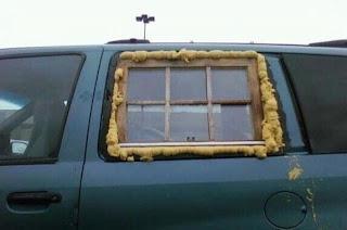 reparando ventana del auto