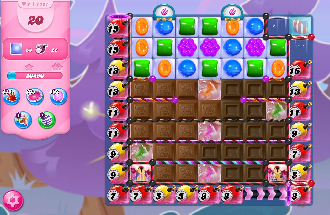 Candy Crush Saga level 7887