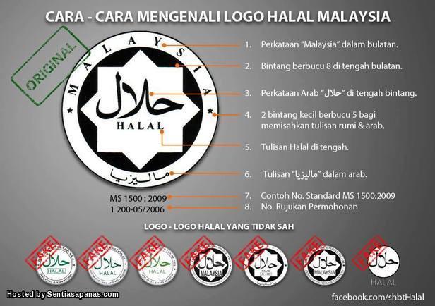 Cara mengenali logo halal sebenar