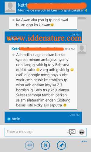 testi Ambejoss dan Ambeclear Herbal de Nature