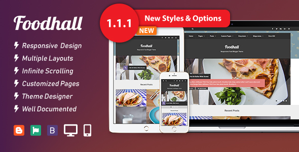Foodhall Responsive Food Blogger Theme Thumbnail