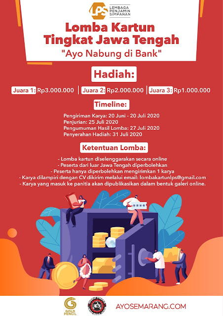 Lomba Kartun Tingkat Jawa Tengah 'Ayo Nabung di Bank'