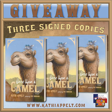 Once Upon a Camel tour giveaway graphic. Prizes to be awarded precede this image in the post text.