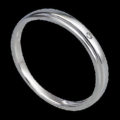 Nhẫn cưới Kim cương Vàng trắng 14K PNJ DD00W000337