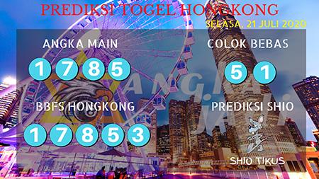 Prediksi Angka Jitu Hongkong HK JP Selasa 21 Juli 2020