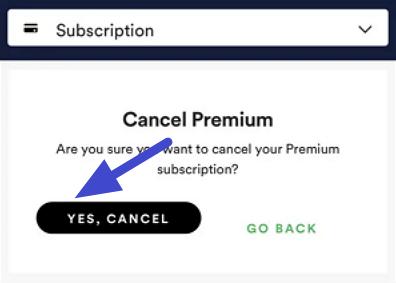 cara berhenti langanan spotify premium