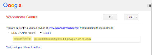 Where are Blogger CNAME records for my custom domain?
