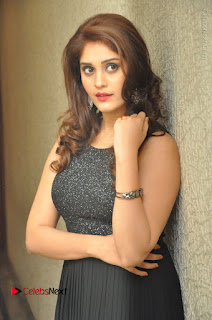 Actress Surabhi Stills in Black Long Dress at turodu Audio Launch  0040.JPG