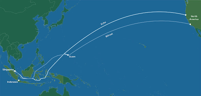 kabel optik echo dan bifrost, kabel optik facebook dan google, kabel optik indonesia langsung ke as, proyek kabel optik indonesia