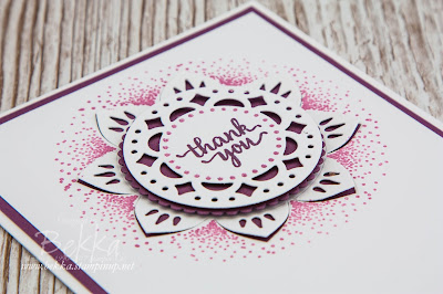 Fast & Fabulous Thank You Card featuring the Eastern Palace Suite from Stampin' Up! UK