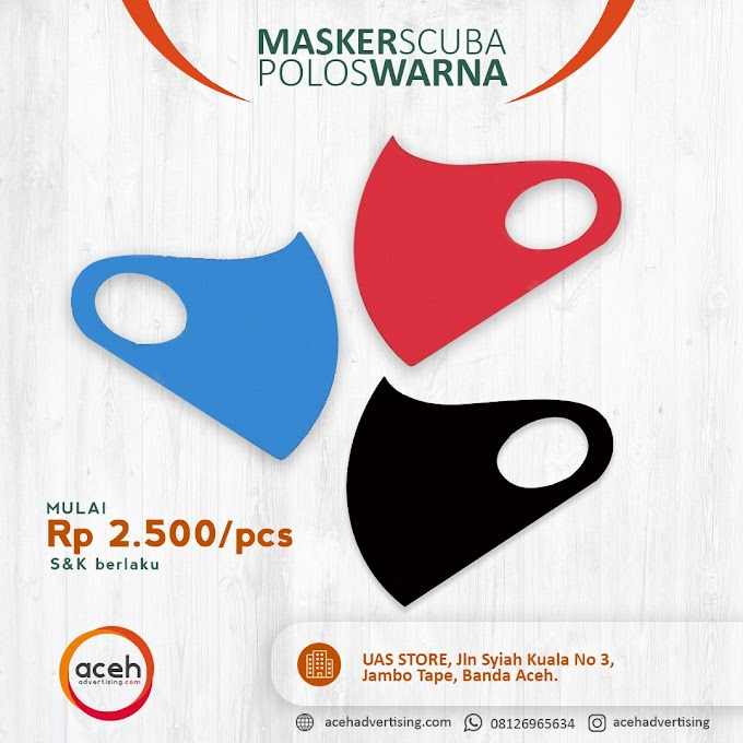Grosir Masker Scuba Polos Warna - Aceh Advertising
