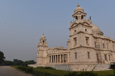 the view of victoria memorial hall