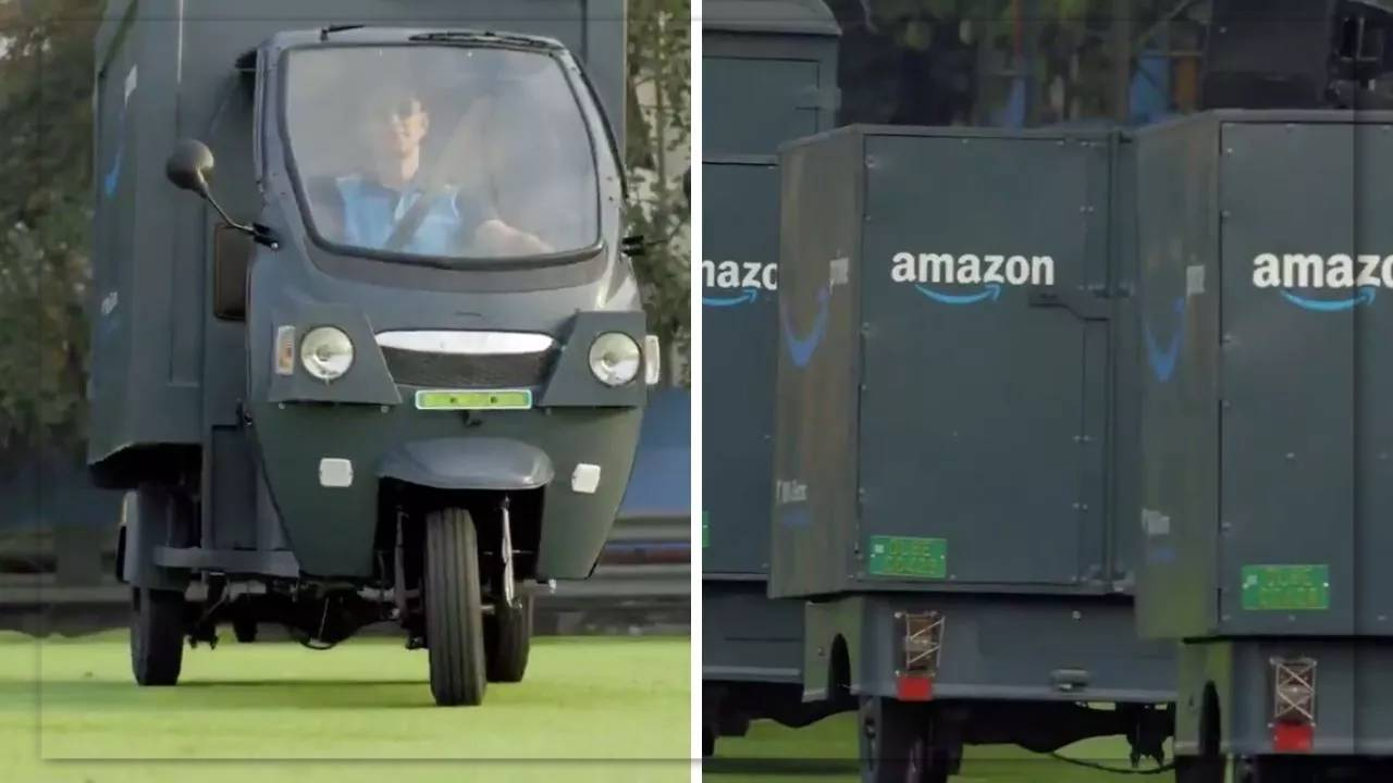 Rickshaw 2.0. Amazon is actively switching to electric transport