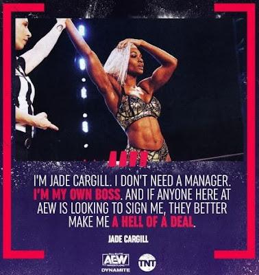 Jade Cargill manager.  StrengthFighter.com