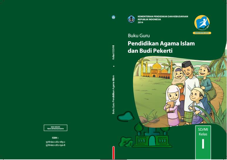 Download Gratis Buku Guru Pendidikan Agama Islam dan Budi Pekerti Kelas 1 SD Kurikulum 2013 Format PDF
