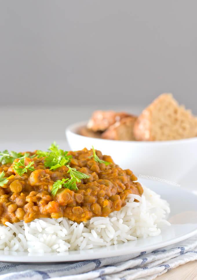 Curry Lentils | danceofstoves.com