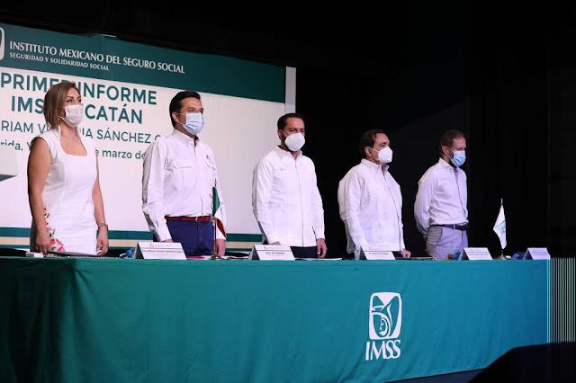 Trabajo conjunto gobiernos, instituciones de salud y personal de salud evitó un colapso sistémico de la red hospitalaria: IMSS Twitter @MauVila