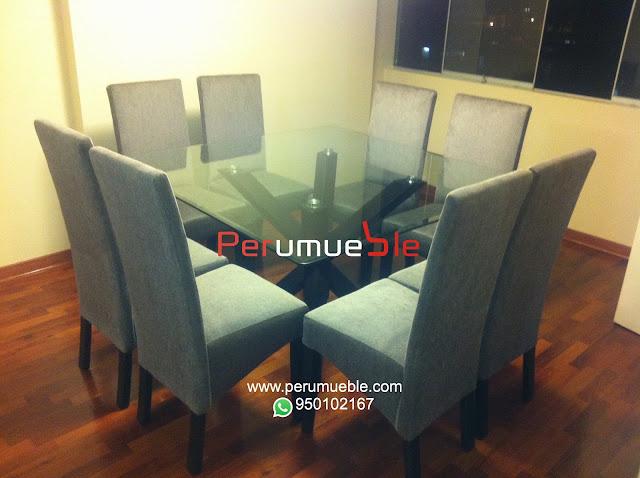 Muebles de comedor, juego de comedor, comedor en acero inoxidable, sillas en acero