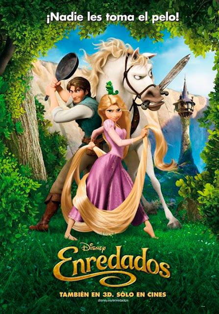 """Cartel de la película de Disney del año 2010 """"Enredados"""""""