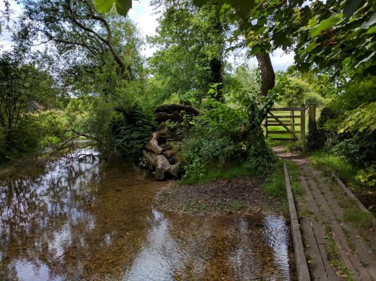 Photograph of a footbridge over the River Mimram on Walk 55: The Ayot North East Loop