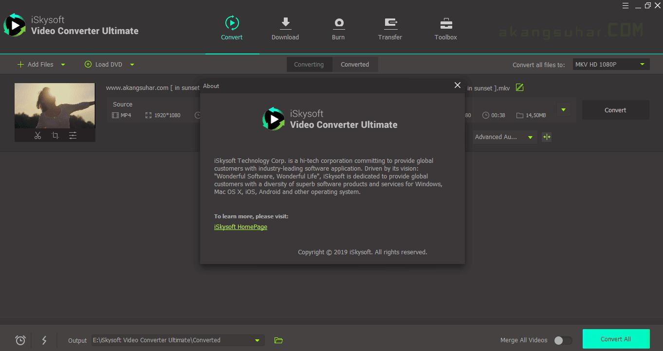 Gratis Download iSkysoft Video Converter Ultimate Full Crack Terbaru