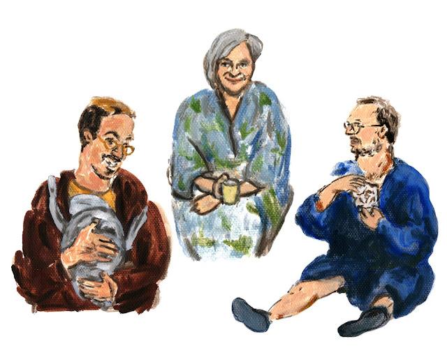 Bouzian (Hassan Slaby), Puck (Loes Schnepper), Martijn (Guido Pollemans)