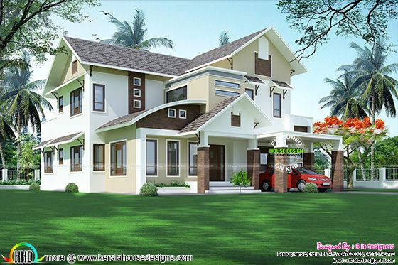 Modern home architecture in Kerala