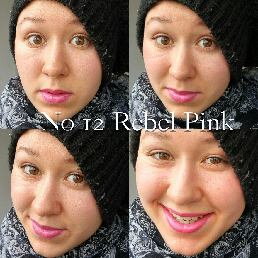Pierre René Professional Professional Lipstick 12 Rebel Pink Swatch