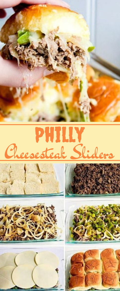 PHILLY CHEESESTEAK SLIDERS #dinner #healthylunch #cheese #snack #yummy