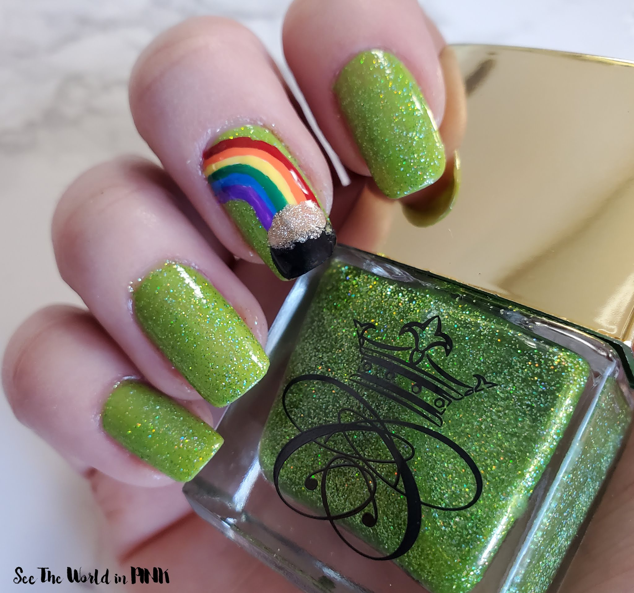 Manicure Monday - Pot of Gold Nails
